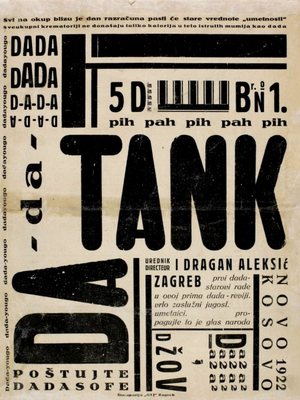 DADA TANK N°1, 1922 von Dragan Aleksic. Abbildung Cover. Collection MSU - Muzej Suvremene Umjetnosti Zagreb |Museum of Contemporary Art Zagreb|