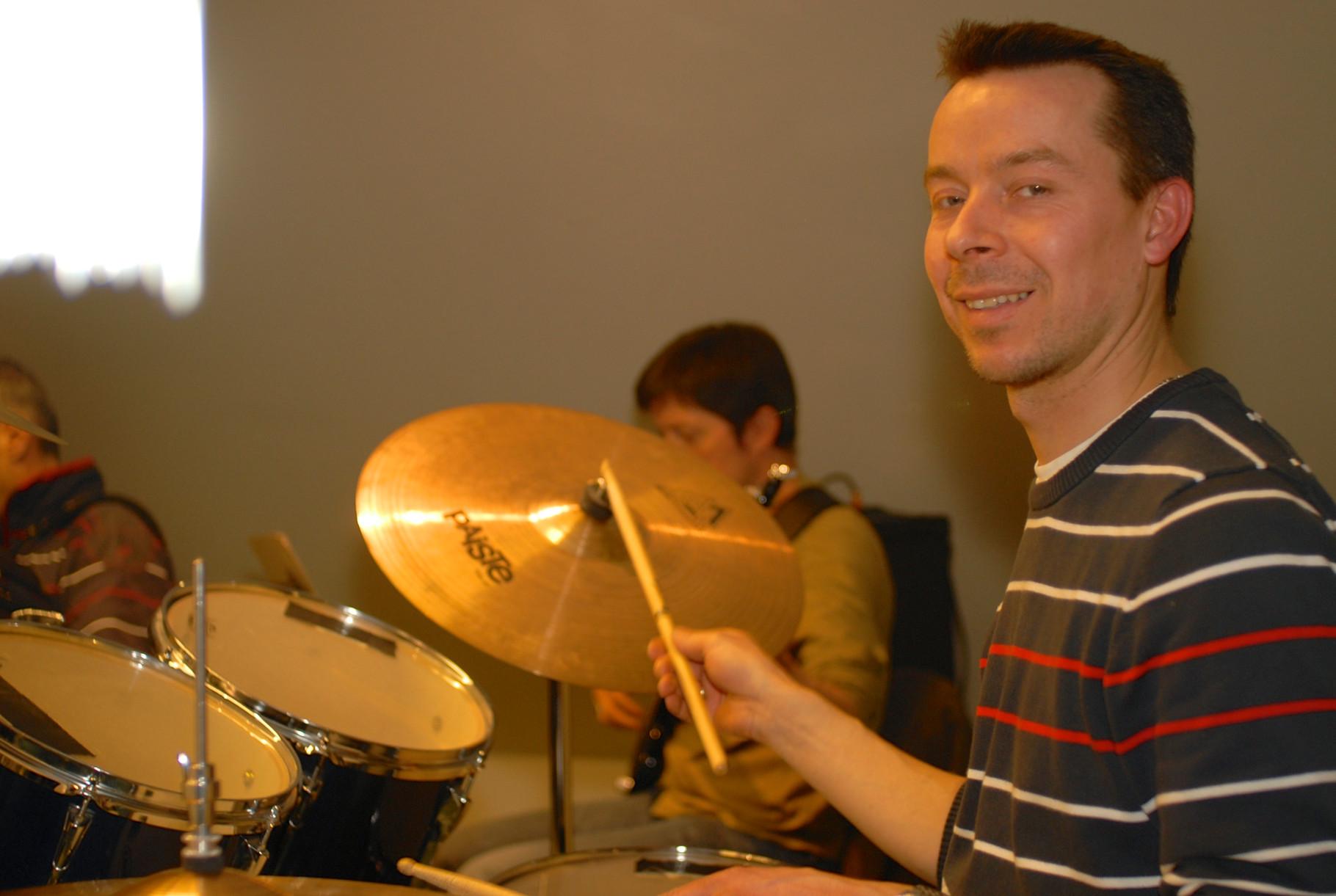 Unser Drummer Michi