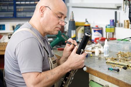 Meister Rudi Kaufmann, immer konzentriert bei der Arbeit!