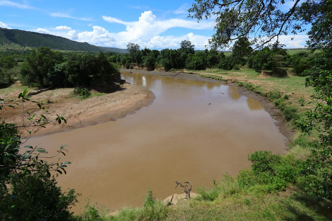 La rivière Mara vue depuis notre camp