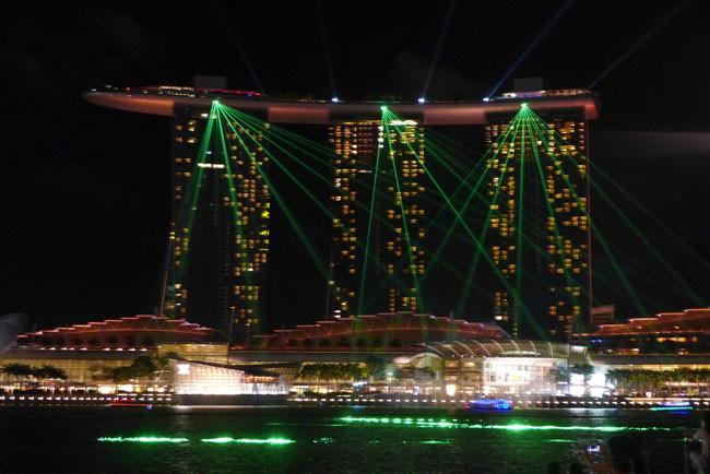 Singapur Marina Bay Sands Lightshow
