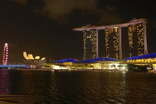 Singapur Marina Bay Sands Nacht