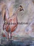 Huhn, Mischtechnik - Acrylbild 80 x 100, Andrea Meßmer, 350€