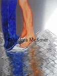 Kuss , Acryl auf Aluminiumplatte, Andrea Meßmer