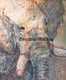 Elefant, Acrylbild Andrea Meßmer