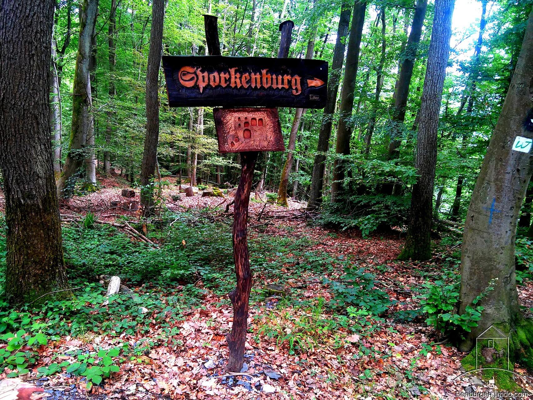 """Hinweisschild """"Zur Sporkenburg"""""""