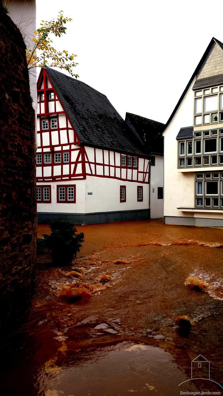 Überschwemmung in Limburg.