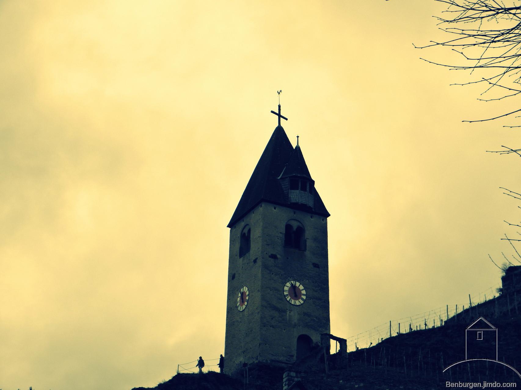 Wehrturm der Stadtbefestigung und heutiger Glockenturm in Kobern.