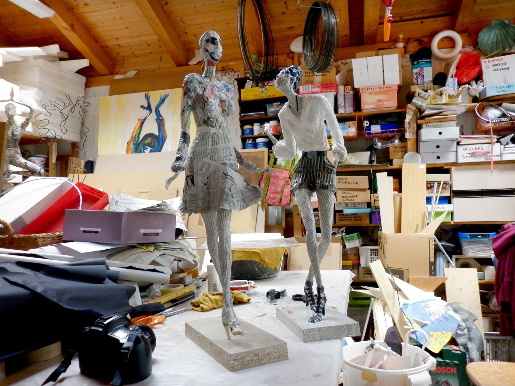 Elena Lichtsteiner, Skulpturen: Atelierimpressionen