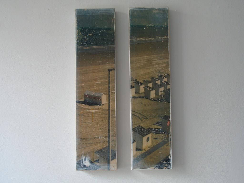 Vor dem Abflug übers Meer 1/7 2003, zwei Teile 40x10cm 400.-