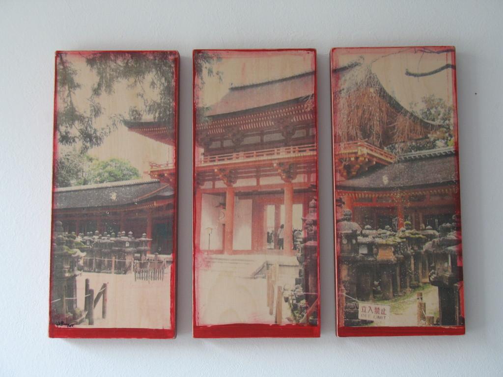 Sehenswürdigkeit, 2007 1/7 drei Teile 30x13cm 400.-, verkauft