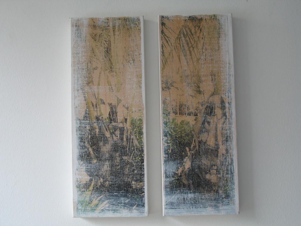 Pflanze, 2004, 1/7 zwei Teile 40x15 cm 150.-, verkauft