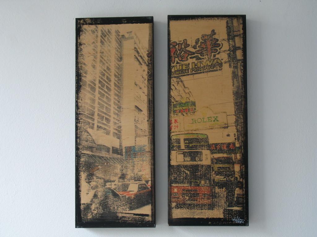Frau auf dem Weg zur Arbeit 1/7 2004 zwei Teile 40x15cm, 200.-