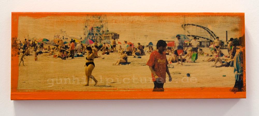 Streit am Strand, 1/7 2008 15x40cm verkauft