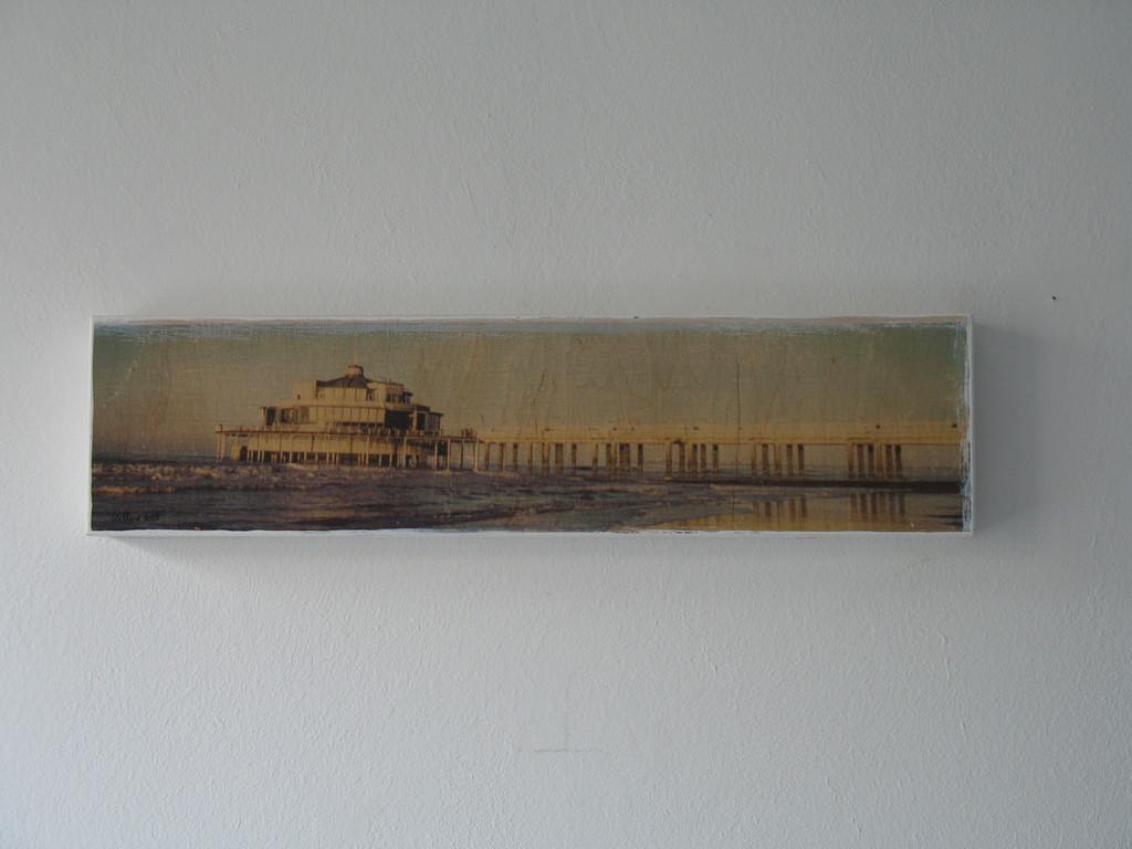 Ein Pier will weg 17/ 2007 10x40cm 400.-