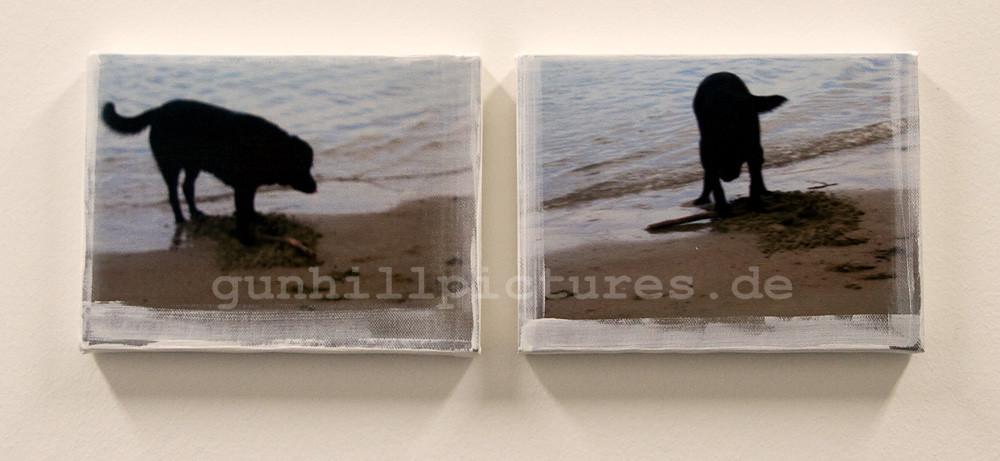 Der beste aller Hunde, 1/7 2008 zwei Teile 15x20cm, verkauft