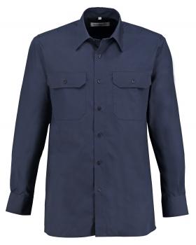Diensthemd marine langarm
