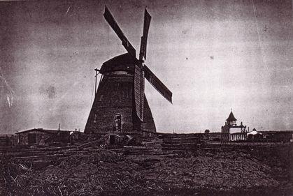 Straupitzer Windmühle von 1850, um 1900.