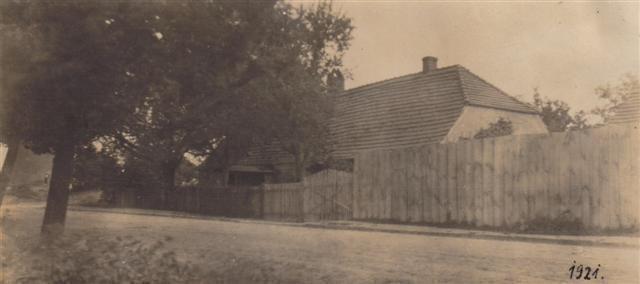 Das alte Müllerhaus in der Laasower Straße, 1921.