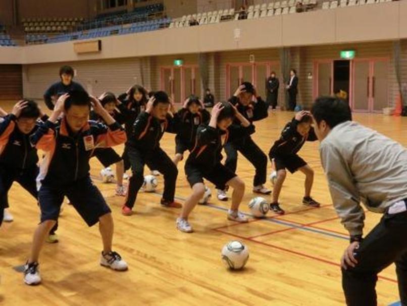 山形県スポーツタレント発掘事業ドリームキッズのトレーニング