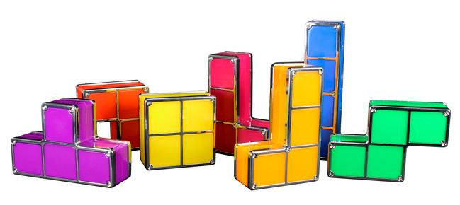 Tetris Style Lampe in Einzelteilen