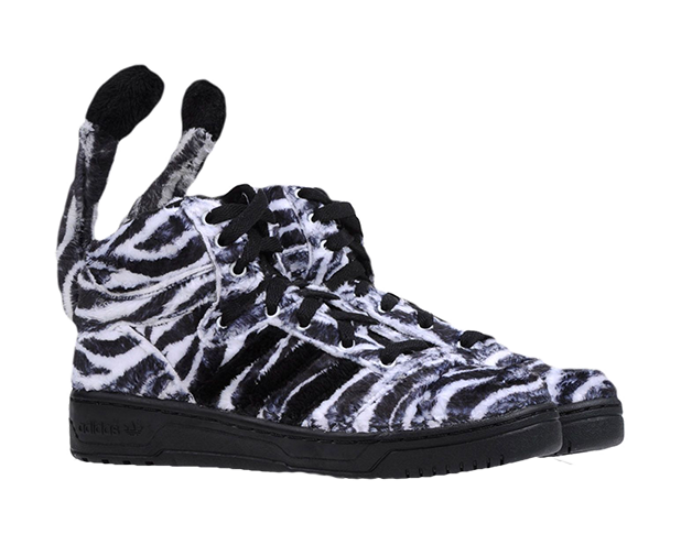 Jeremy Scott for Adidas Animal Zebra Sneaker