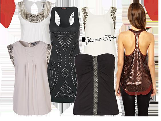 Fashion Trend Glamour Tops | Das Highlight an festlichen Tagen