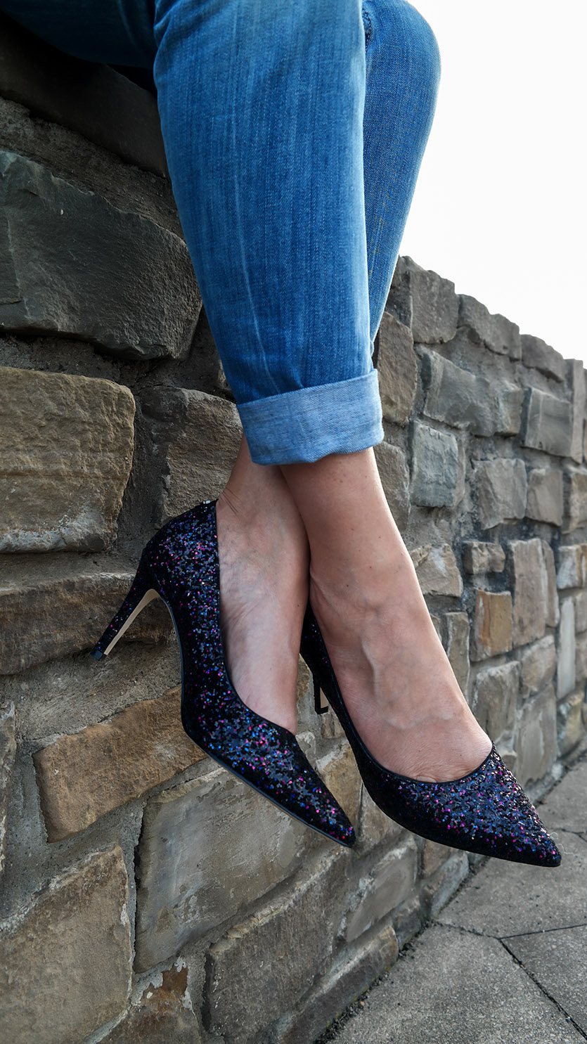Outfit American Girl | Glitter Pumps von Guess | hot-port.de | 30+ Style Blog