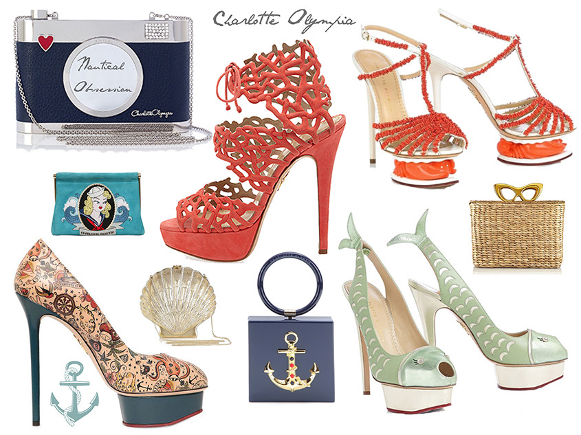Charlotte Olympia | Spring Summer 2014 | Get the new nautical style look
