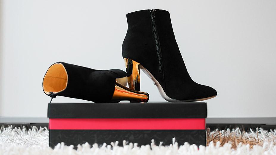 Fashion Trend Wildleder Stiefelette von Buffalo | Mein neuer Modetrend für den Herbst 2014 | Mit goldenen Absätzen für einen dekadenten Lifestyle sorgen