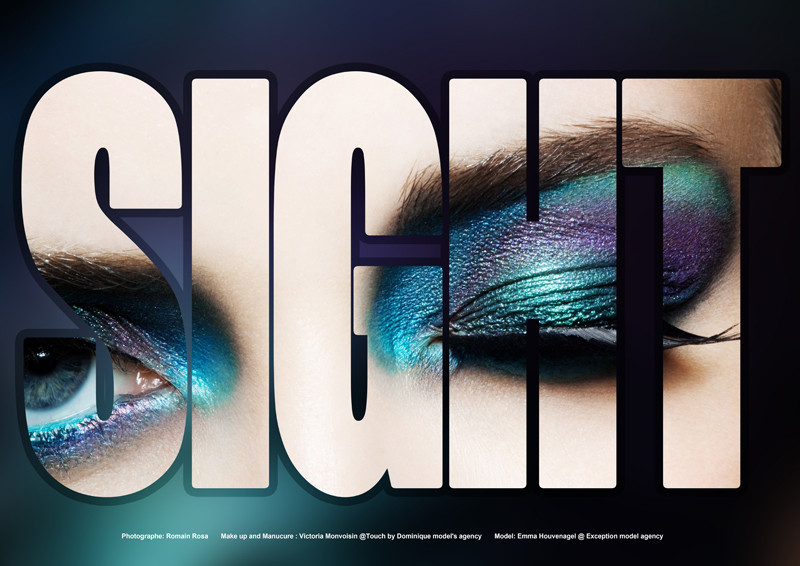 Sight Beauty Scene Editorial Issue by Romain Rosa and Victoria Monvoisin