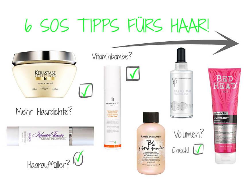 6 SOS Tipps für dünner werdendes Haar | Beauty | Schönheit | Volumen | Haardichte