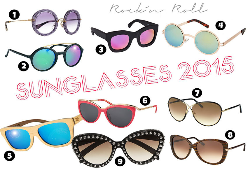 Sunglasses 2015 | Round Mirror Shades and Funky Wayfarer Models are the Style Trend this year