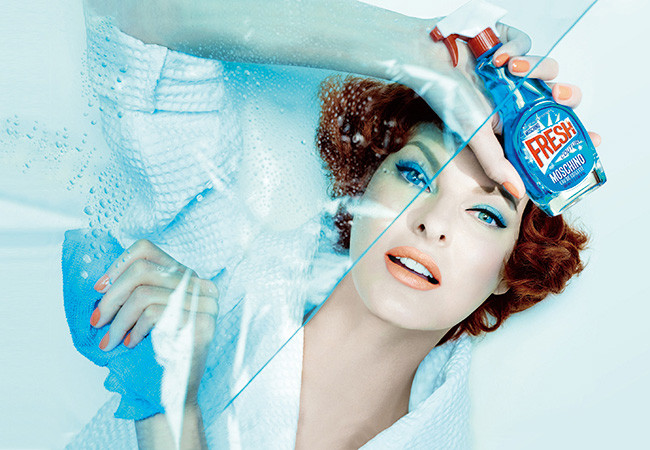 Linda Evangelista for Moschino Fresh Couture
