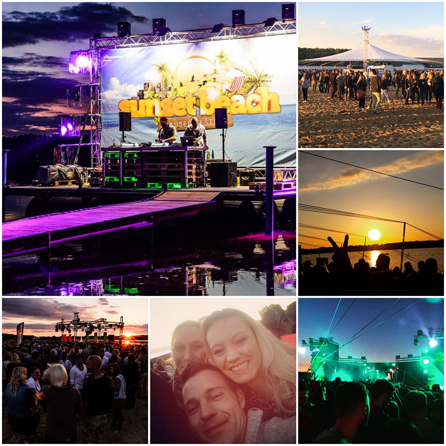 Impressionen des Sunset Beach Festivals 2015 am Stausee in Haltern