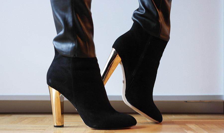 Fashion Trend: Wildleder Stiefelette mit Goldabsatz von Buffalo. Mein neuer Modetrend für den Herbst 2014 | Hot Port Life & Style | 30+ Style Blog