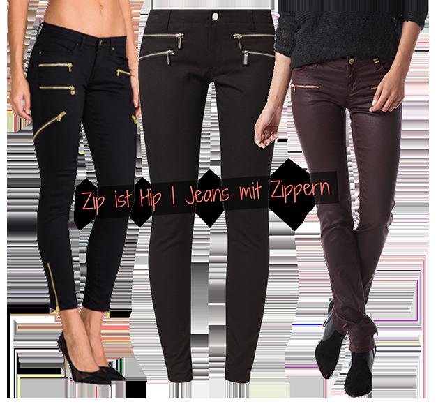 Zip ist Hip | Jeans mit Zippern