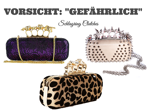 Der Trend an Silvester? Handtaschen im Miniformat mit Schlagring
