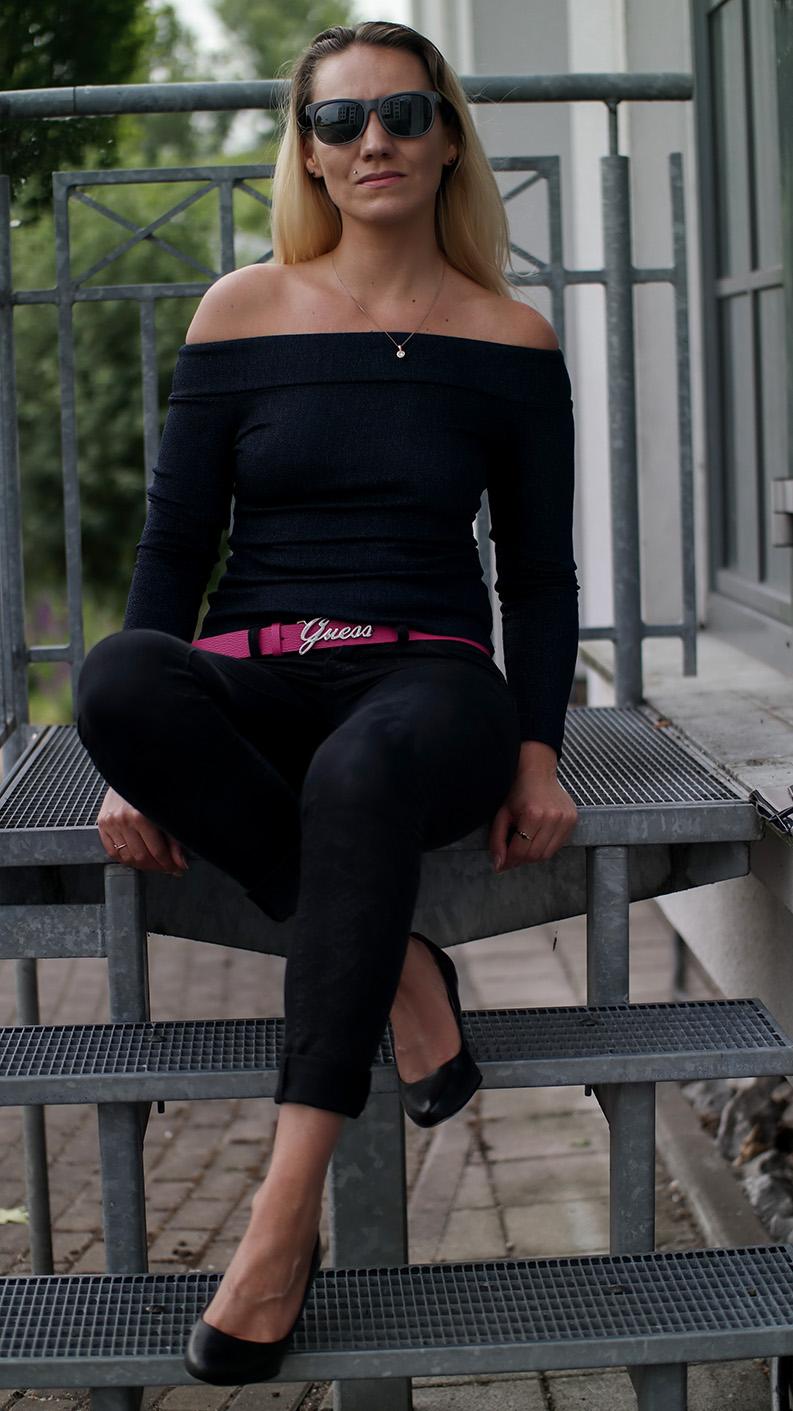 Outfit Bardot Top & G-Star Mesh Clutch   hot-port.de   30+ Style Blog