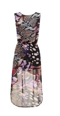 Vokuhila Kleid mit wildem Tierprint