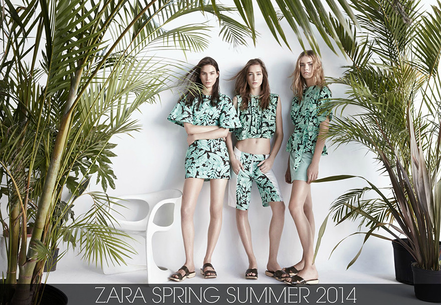 Zara Spring Summer 2014 | Palms and naked