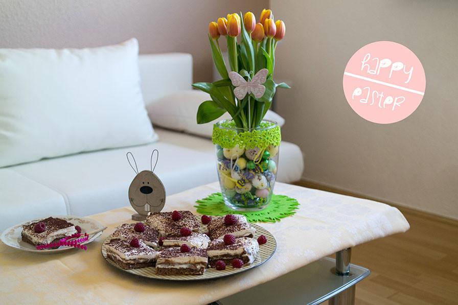 Frohe Ostern mit meinen Buttermilch Brownies   Inspirationen für einen schön gestalteten Ostertisch
