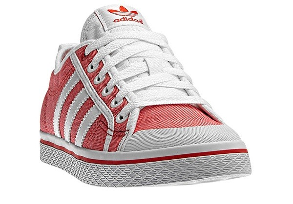 Adidas Honey Stripes Low Red Vivid Luftiger Sneaker in Jeans-Optik