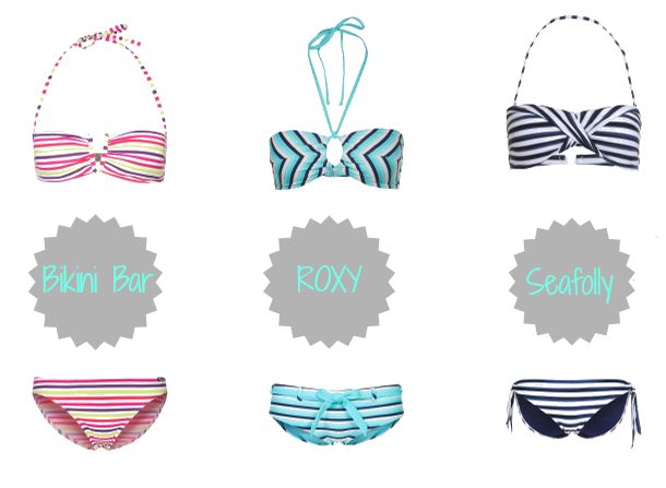 Strandgut | Tragbare Strandmode 2013 | Bandeau Bikini Trends 2013 | Bikini Bar Bandeau | Roxy Style Bandeau | Seafolly Seaview Bandeau