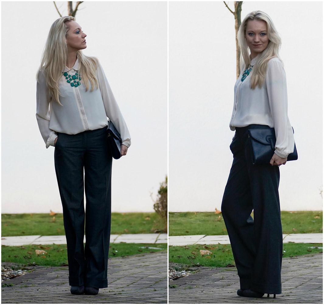 Streetstyle Look | Mein Pre Christmas Business Look bestehend aus Marlene-Hose und Chiffonbluse