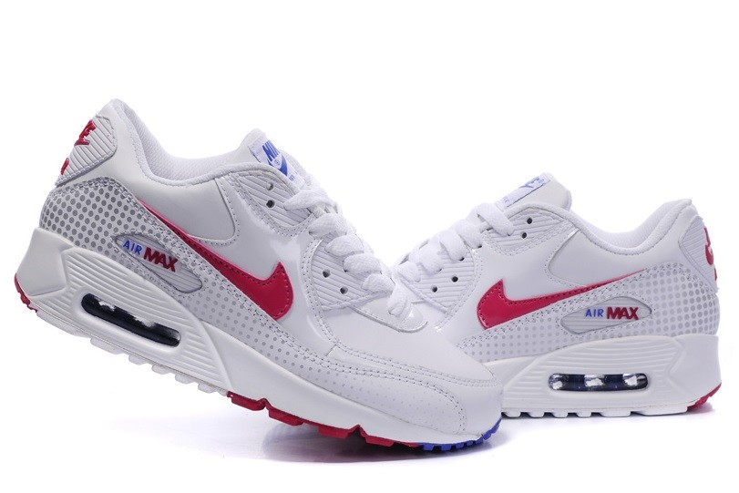 Nike Air Max 90 Wmns in red white silver
