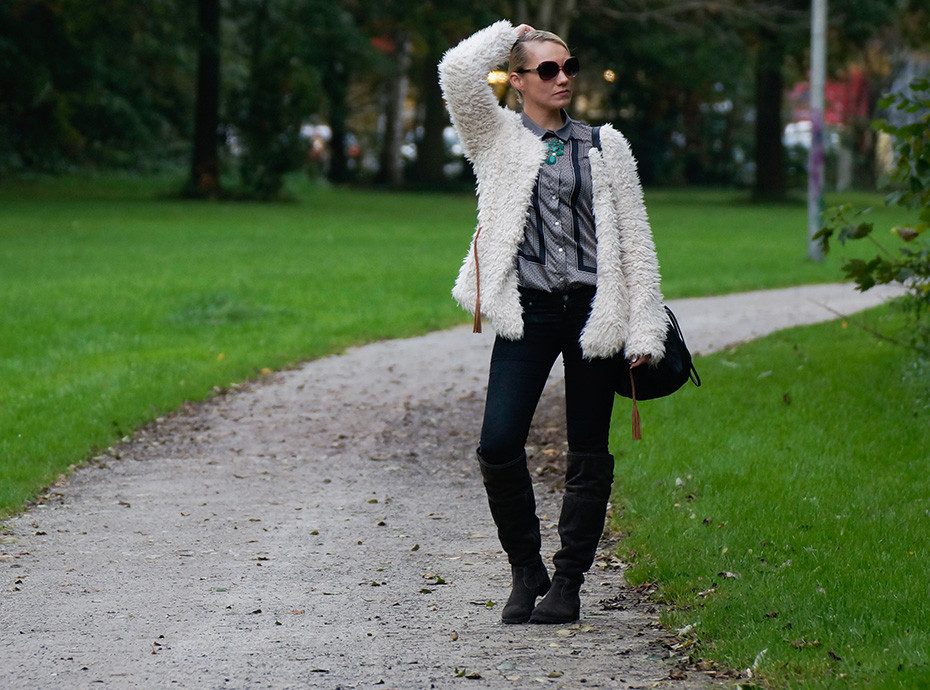 Outfit: Perfekt gerüstet mit meiner neuen Plüschjacke von Review
