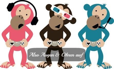 Drei Affen, die nicht wegsehen, weghören und auch mal ihren Mund aufmachen