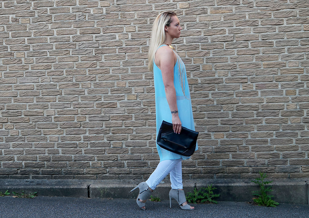 Summer Outfit | White Asos Denim Jeans & River Island Aphrodite Top
