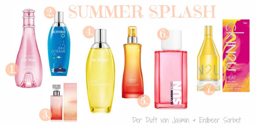 Summer Splash leichte Sommerdüfte 2013